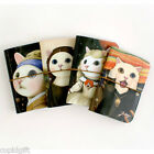 Choo Choo Cat ART Painting Parody Card Case Credit Business Holder Pocket Wallet
