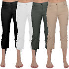 Miss Posh Womens Cropped Casual Stretch Military Pants Trousers