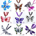 Hot Charms Butterfly Dragonfly Pendant Chain Necklace Choose Styles Party Gift