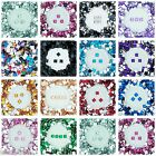 8mm Flat Back Square Faceted Rhinestones Acrylic Gems Craft Embellishment Card