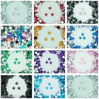 11mm Flat Back Star Faceted Rhinestones Acrylic Gems Craft Embellishment Card