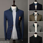 Fashion Slim Fit Stylish Spring Autumn Winter Men collar two button blazer 5 Col