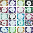 6mm Flat Back Heart Faceted Rhinestones Acrylic Gems Craft Embellishment Card