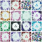 8mm Flat Back Heart Faceted Rhinestones Acrylic Gems Craft Embellishment Card