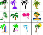 Palm Trees Nail Decals Set of 20 - Choose from 12 designs