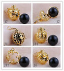 18K GF Gold Vermeil Mexican Bola Harmony Ball Pendant Angel Caller Baby Chime