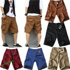 Hot Men's Summer Cotton Pants Casual Pocket Decoration Short Pants 7 Colors