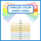 150 ~ 3x5 Index Cards Color Parchment Cardstock Blank Unruled Colored Card Stock