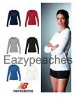 New Balance Ladies XS-2XL LONG SLEEVE Athletic Tempo Wicking T-Shirt Yoga Sport