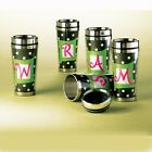 NEW Travel Tumbler Mug Initial Design Stainless Steel Lined 16oz - Select Design