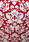 Damask Print White on Red Light Switch Plates Electrical Outlet Covers