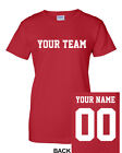 CUSTOM Women's T-Shirt Jersey ANY COLOR Personalized Name Number Team Football