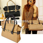 Woman PU Leather Cross-Body Turn-Lock Clasp Handbag Totes Satchel Bag DZ88