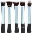 Pro Powder Blush Brush Cosmetic Stipple Foundation Blue Brushes Comestic Tool