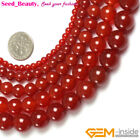 "Beautiful round red agate beads gemstone  strand 15"",Jewelry Making beads"