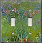 Light Switch Plate Cover - Monet Home Decor - Agapanthus Flowers - Floral