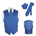 Men's ROYAL BLUE Tie Dress Vest and NeckTie Set for Suit or Tuxedo