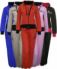 Womens Love Tracksuit Set Jogging Bottoms Trousers Zip + Hooded Top Ladies