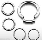 1x 16g-4g Surgical Steel Segmented Seamless Captive Ring Ear-Lip-Tragus-Eyebrow