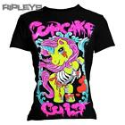 EVIL CLOTHING Cupcake Cult Skinny Ladies T Shirt ZOMBIE PONY Ribs All Sizes