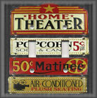 Metal Light Switch Plate Cover - Home Theater - Movie Room Home Decor Movies