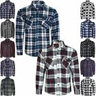 WARM WINTER FLEECE LINED LUMBERJACK WORK CHECK NOT PADDED CASUAL APPAREL SHIRT