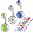 belly button jewellery navel bars rings lot crystal 3pcs more color options 9LBN