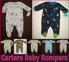 BABY ROMPER - Prem 0 3 6 9 mths CARTERS One-Piece COVERALL Adorable ROMPER - NEW