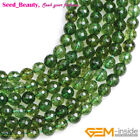 """Jewelry Making faceted round green peridot quartz Loose beads strand 15"""""""