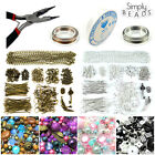 Jewellery Making Starter Kit 325 Findings - 400 Beads - 20m Cords - Chain Charms