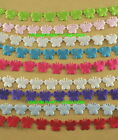"5/8"" Silky SATIN - BUTTERFLY Cut Out Ribbon 24 Yards CHOOSE From 9 COLORS"