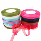 "50 Yard Rolls Sheer Organza Ribbon, Various Colours  - 10mm (3/8"") Width"