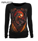 SPIRAL DIRECT Ladies Black Goth DRAGON FURNACE L/Sleeve Top All Sizes