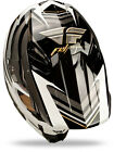 2014 Fly Racing Formula STRYPER Carbon Fiber HELMET Black White Adult L MX MOTO