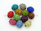 10Pcs Crystal Glass Rhinestones Pave Egg Shaped Bracelet Connector Charm Beads