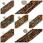 "olivary tiger eye gemstone loose beads strand 15""jewelery making beads"