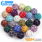 10mm Quality Czech Crystal Rhinestones Pave Clay Round Disco Ball Beads 10Pcs GB