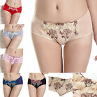 Womens Ladies Embroidered Lace Underpants Underwear Panties Breathable Bottom