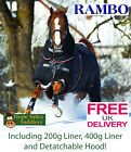 Horseware Rambo Optimo Heavy Heavyweight  Turnout Rug (AAAF11-KSK0) **BNWT**
