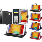 Wallet Leather Folio Stand Case with Card Holder For Samsung Galaxy Note 3 III