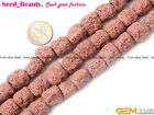 jewelry making12x14mm multicolor cloumn Gemstone lava rock beads strand 15""