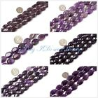 Seed-Beauty jewelry making oval smooth amethyst  gemstone beads strand 15""