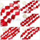 Jewelry Making square cube red coral jewelry making gemstone beads 15""