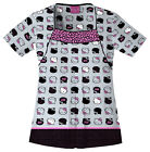 Hello Kitty Expressions Cherokee Round Neck Scrub Top 6714 HKEX