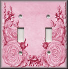 Light Switch Plate Cover - Pink Floral Swag - Flowers Home Decor