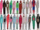 Boys Girls Kids All In One Hooded Sleepsuit Pyjamas Primark Ages Uk 2-13 Bnwt
