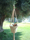 MACRAME PLANT HANGER 35in SIMPLE 3-ARM 6mm CHOOSE COLOR
