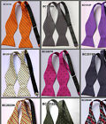 BS2 Check Lots Wedding Classic Silk Cravat Butterfly Men Self Bowtie Bow Ties