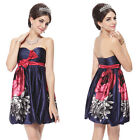 Ever Pretty Strapless Bow Floral Printed Cocktail Homecoming Party Dress 03330