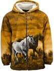 TrailCrest R'lixlo Horse Lover Gift Print Fleece Jacket Hoodie Sweater 2630